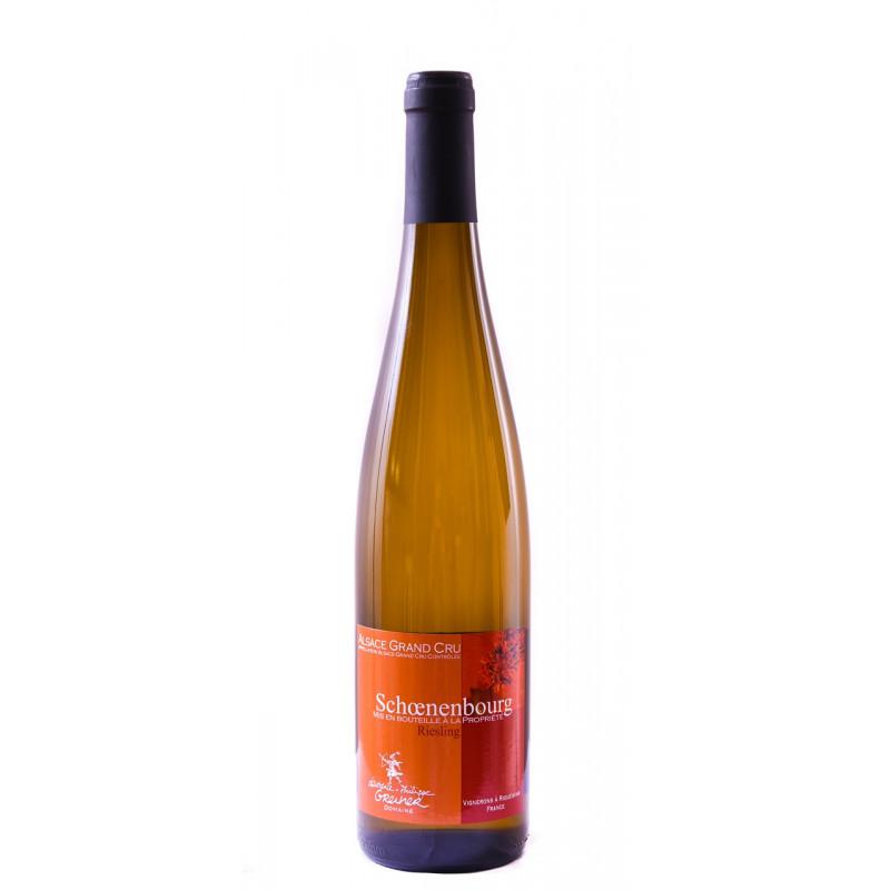 Vin d'Alsace Grand Cru Schoenenbourg Riesling Biologique Domaine Laurence et Philippe Greiner Riquewihr