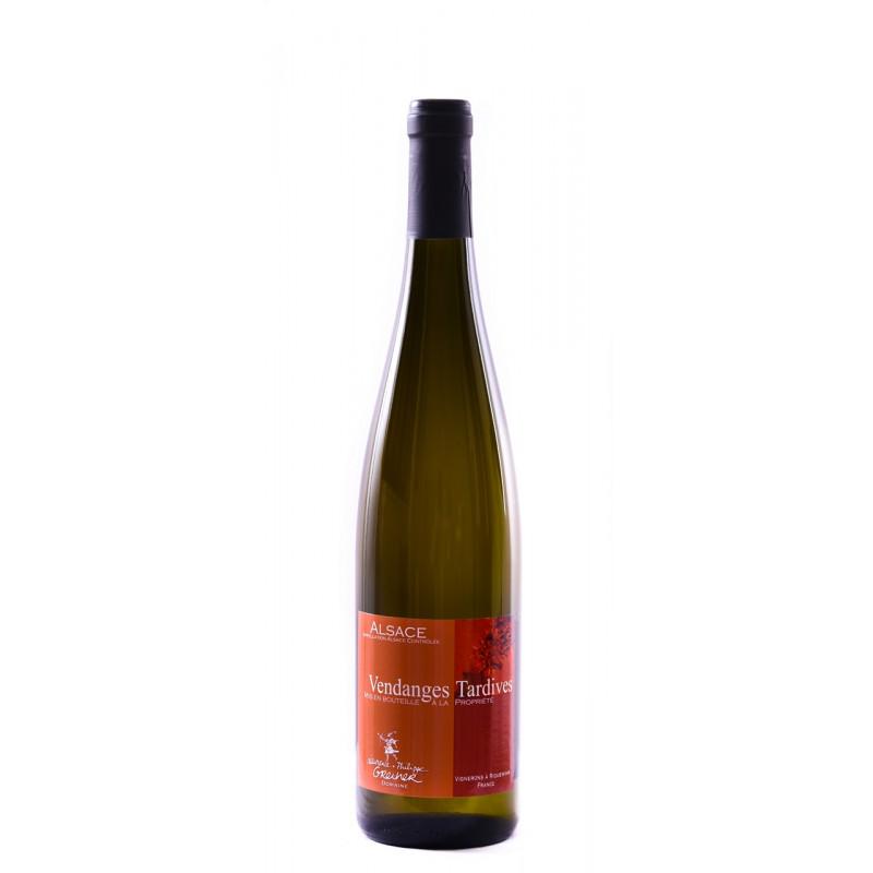 Vin d'Alsace Riesling Vendanges Tardives bio Domaine Laurence et Philippe Greiner Riquewihr