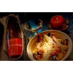 Accord met-vin Schoenenbourg Riesling Domaine Laurence et Philippe Greiner vin bio avec cassolette de la mer