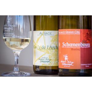 Domaine Laurence et Philippe Greiner dégustation vins d'Alsace Bio Cuvée de l'Archer et Schoenenbourg Riesling Grand Cru